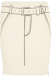 Band Of Outsiders Printed Bandage Skirt White