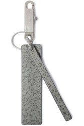 Rick Owens Printed Leather Keychain Gray