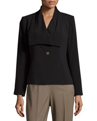 Laundry By Shelli Segal Draped Collar One Button Jacket Black