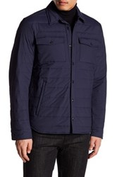 Woolrich John Rich And Bros Quilted Shirt Jacket Blue