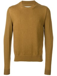 Maison Martin Margiela Thick Knit Front Panel Jumper Nude Neutrals