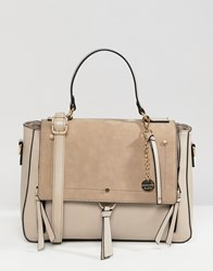 Aldo Gochnauer Cream Handheld Tote Bag With Tassel And Zip Detail Beige