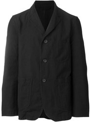 Casey Casey Notched Lapel Blazer Black