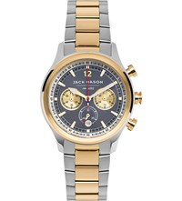 Jack Mason Jm N202 012 Nautical 18Ct Yellow Gold Plated And Stainless Steel Chronograph Watch
