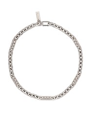 Prada Chain Necklace F0e5o Antiqued Silver