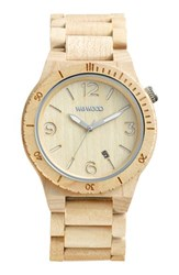 Wewood 'Alpha' Wood Bracelet Watch 46Mm Beige