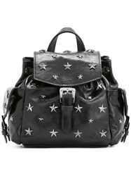 Red Valentino Star Stud Backpack Black