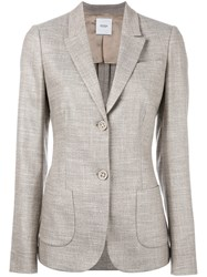 Agnona Two Button Blazer Nude Neutrals