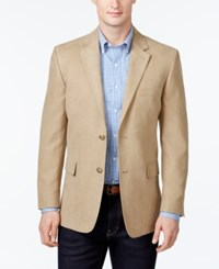 Tasso Elba Microsuede Classic Fit Tan Sport Coat Only At Macy's