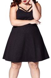 Mblm By Tess Holliday Plus Size Women's Strappy Ponte Fit And Flare Dress