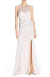 Women's Sean Collection Beaded Mesh Gown
