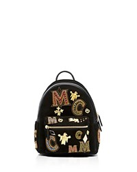 Mcm Small Stark Crown Jewel Backpack Black