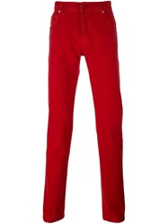 Kiton Straight Leg Jeans Red