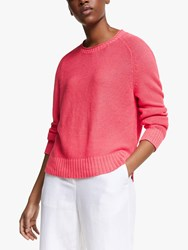 Eileen Fisher Linen Textured Jumper Pink Grapefruit