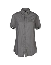 Paolo Pecora Short Sleeve Shirts Grey