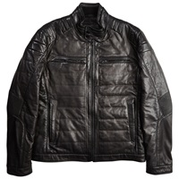 Boss Logo Boss Nascin Leather Jacket Black