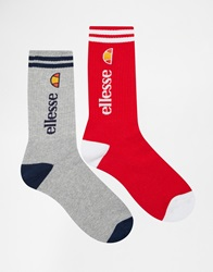 Ellesse 2 Pack Crew Socks Multi