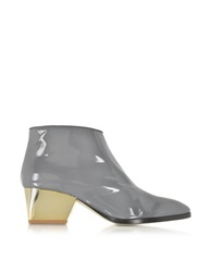 Zoe Lee Eastwood Gray Patent Leather Ankle Boot