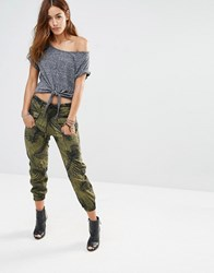 G Star G Star Camo Trousers With Fishbone Print Green