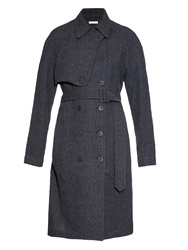 Tomas Maier Textured Wool Trench Coat