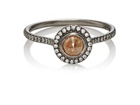 Zoe Women's Opaque Brown Diamond Ring No Color
