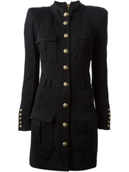 Balmain Military Dress Black