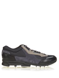 Lanvin Running Contrast Panelled Low Top Trainers Black Multi