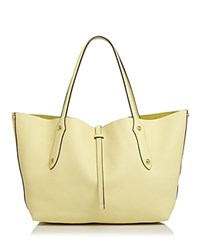 Annabel Ingall Isabella Small Leather Tote 100 Exclusive Pale Yellow Gold