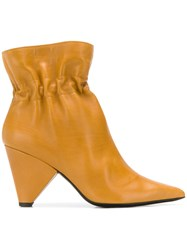 Aldo Castagna Ankle Boots Yellow And Orange