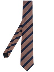 Cerruti 1881 Striped Tie Brown