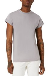 Topman Men's Muscle Fit Roller T Shirt Grey