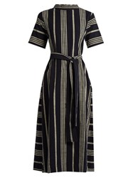 Ace And Jig Margaret Striped Cotton Dress Navy White