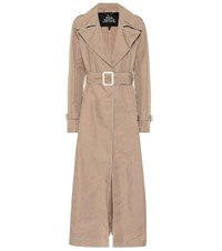 Marc Jacobs Contrast Stitching Trench Coat Beige