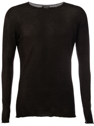 Avant Toi Faded Effect Jumper Black