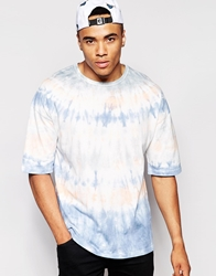 Asos T Shirt With Tie Dye Wash In Oversized Fit Multi