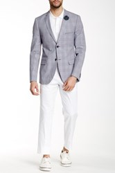 Paisley And Gray White Solid Slim Fit Flat Front Trouser