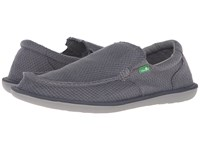 Sanuk Chibalicious Charcoal Hemp Men's Slip On Dress Shoes Gray