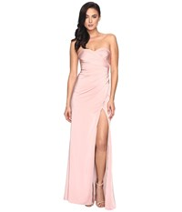 Faviana Faille Satin Strapless W Side Draping 7891 Dusty Pink Women's Dress