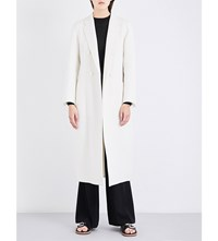 Joseph Bailey Double Breasted Wool And Cashmere Blend Coat 048Chalk