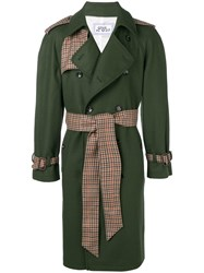 Lc23 Belted Double Breasted Coat Green
