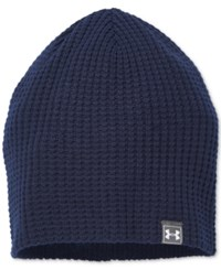 Under Armour Men's Waffle Beanie Midnight Navy Graphite