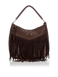 Wallis Tan Tassel Suedette Bag