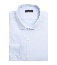 Z Zegna Micro Check Slim Fit Shirt Male Blue