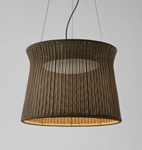 Bover Syra Outdoor Pendant Light Syra 60 24 In D Graphite Brown Rattan Brown White