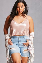 Forever 21 Plus Size Distressed Shorts Denim