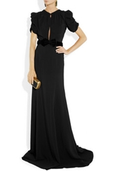 Burberry Prorsum Belted Crepe Gown Net A Porter.Com