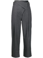 3.1 Phillip Lim Belted Overlap Trousers Grey