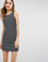 Wal G Dress In Stripe Black