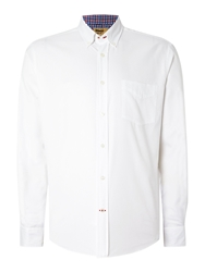 T.M.Lewin Royal Oxford Button Down Casual Shirt White