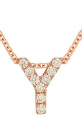 Bony Levy Women's Pave Diamond Initial Pendant Necklace Nordstrom Exclusive Rose Gold Y